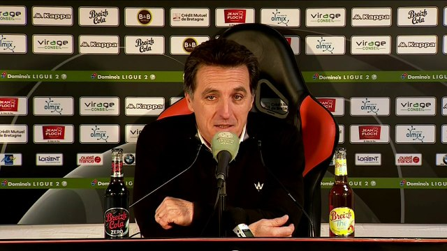 La réaction de Christophe Pelissier après FC Lorient - Grenoble (2-1) 19-20