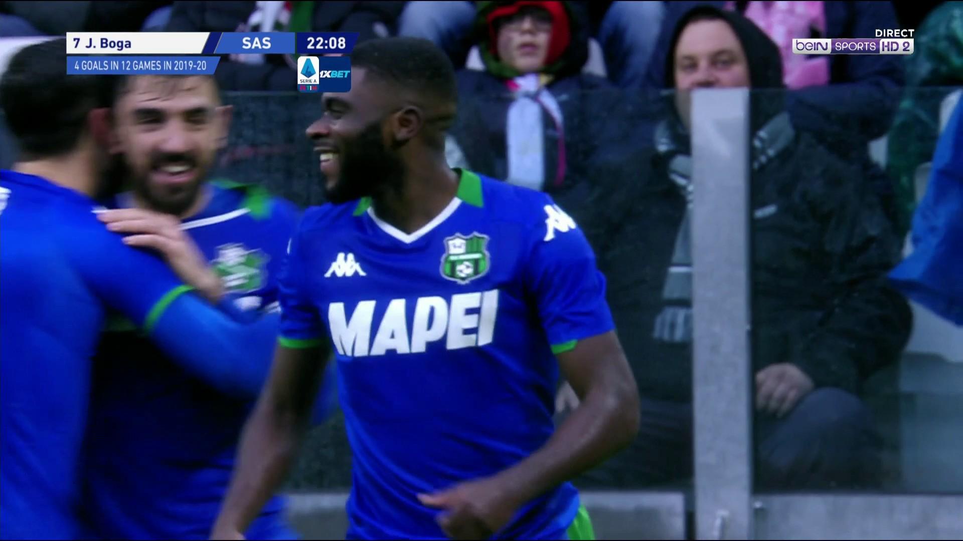Serie A - Sassuolo : Le piqué magique de Boga devant Buffon !