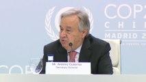 Guterres sobre los líderes que asistirán a la COP25