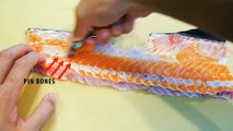 how to fillet salmon for sushi with special knife