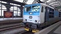 Baureihe 371 002-7 + 10x B249 Bautzner Wagen - Os ČD / RE DB 5276 Vánoční kometa Ausfahrt Richtung Dresden-Altstadt