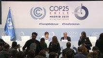 António Guterres en rueda de prensa en la COP25