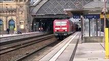 """RE DB 18440  """"Sonderzug"""" Baureihe 143 250 + 5x Doppelstock-Wagen Ausfahrt  Dresden Hbf. Richtung Abstellanlage Dresden-Reick"""