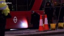Police continue work on London Bridge into Sunday evening