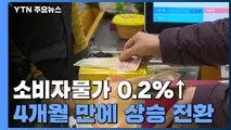 11월 소비자물가 0.2%↑...4개월 만에 상승 전환 / YTN