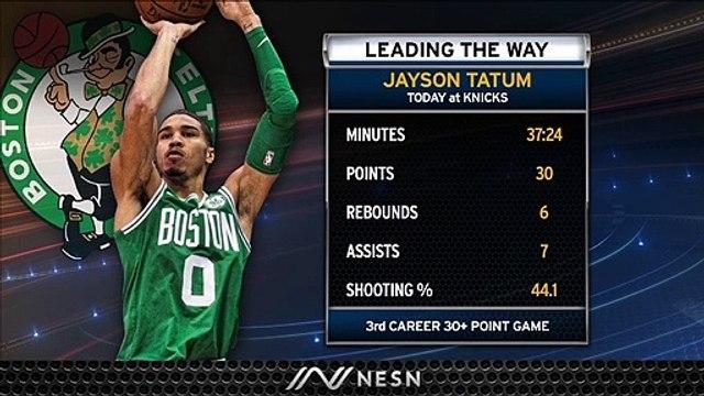 Jayson Tatum Shines As Celtics Comeback To Take Down Knicks On Sunday