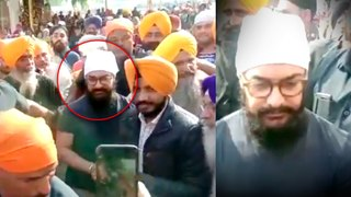 Aamir Khan MOBBED By Fans At Golden Temple Amritsar   Laal Singh Chaddha