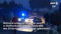 Unwetter in Südfrankreich: Drei Einsatzkräfte sterben bei Hubschrauberabsturz