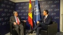 Sánchez se reúne con Guterres en la COP25
