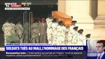 Les 13 cercueils des soldats français tués au Mali arrivent aux Invalides