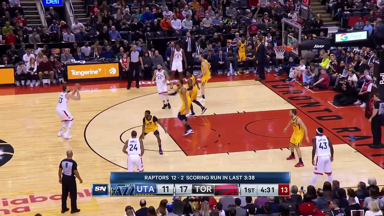 Utah Jazz 110 - 130 Toronto Raptors
