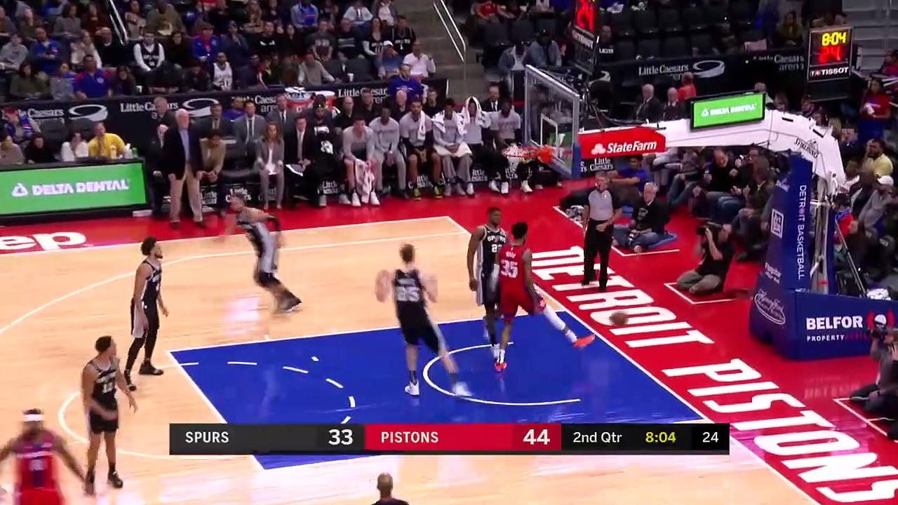San Antonio Spurs 98 - 132 Detroit Pistons