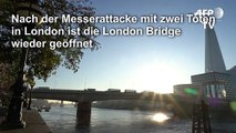 London Bridge nach Attacke wieder geöffnet