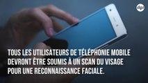 La Chine va exiger des scans faciaux des utilisateurs de mobiles