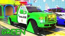 Garbage Truck  Fire Truck  Police Truck with Soccer Ball Tires And Play Doh Street Vehicles For Kids