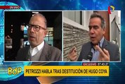 "Petrozzi sobre destitución de Coya: ""No voy a renunciar, no he hecho nada malo"""