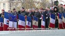 """Hommage aux soldats: """"Ils sont partis pour nous, on est là pour eux"""""""