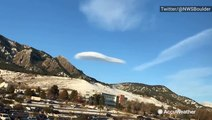 Lenticular cloud looks like UFO hovering over Colorado