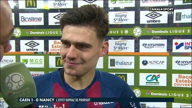 La réaction de Jessy Deminguet après Caen / Nancy