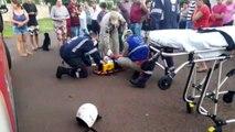 Motociclista fica gravemente ferido em colisão com carro na região do Bairro Brasmadeira