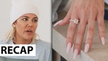 Khloe Kardashian Reacts Tristan Thompson Diamond Ring Gift & Wanting To Date Again - KUWTK Recap