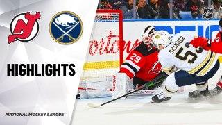 Buffalo Sabres vs. New Jersey Devils - Game Highlights