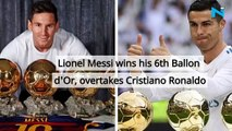 Lionel Messi wins his 6th Ballon d'Or, overtakes Cristiano Ronaldo