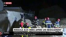 Météo: Les images spectaculaires de l'effondrement de milliers de tonnes rochers sur des maisons de la commune des Mées faisant 2 blessés