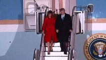 President Trump arrives in UK for Nato Summit