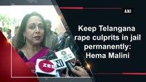 Keep Telangana rape culprits in jail permanently: Hema Malini