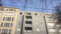 Woluwé Saint Pierre - incendie au dernier étage d'un bâtiment sur l'Avenue Tervueren (vidéo Germani