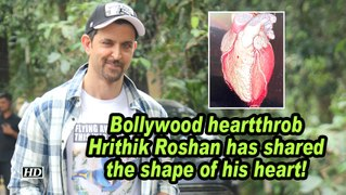 Bollywood heartthrob Hrithik Roshan has shared the shape of his heart!