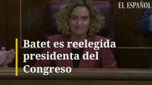 Batet es reelegida presidenta del Congreso