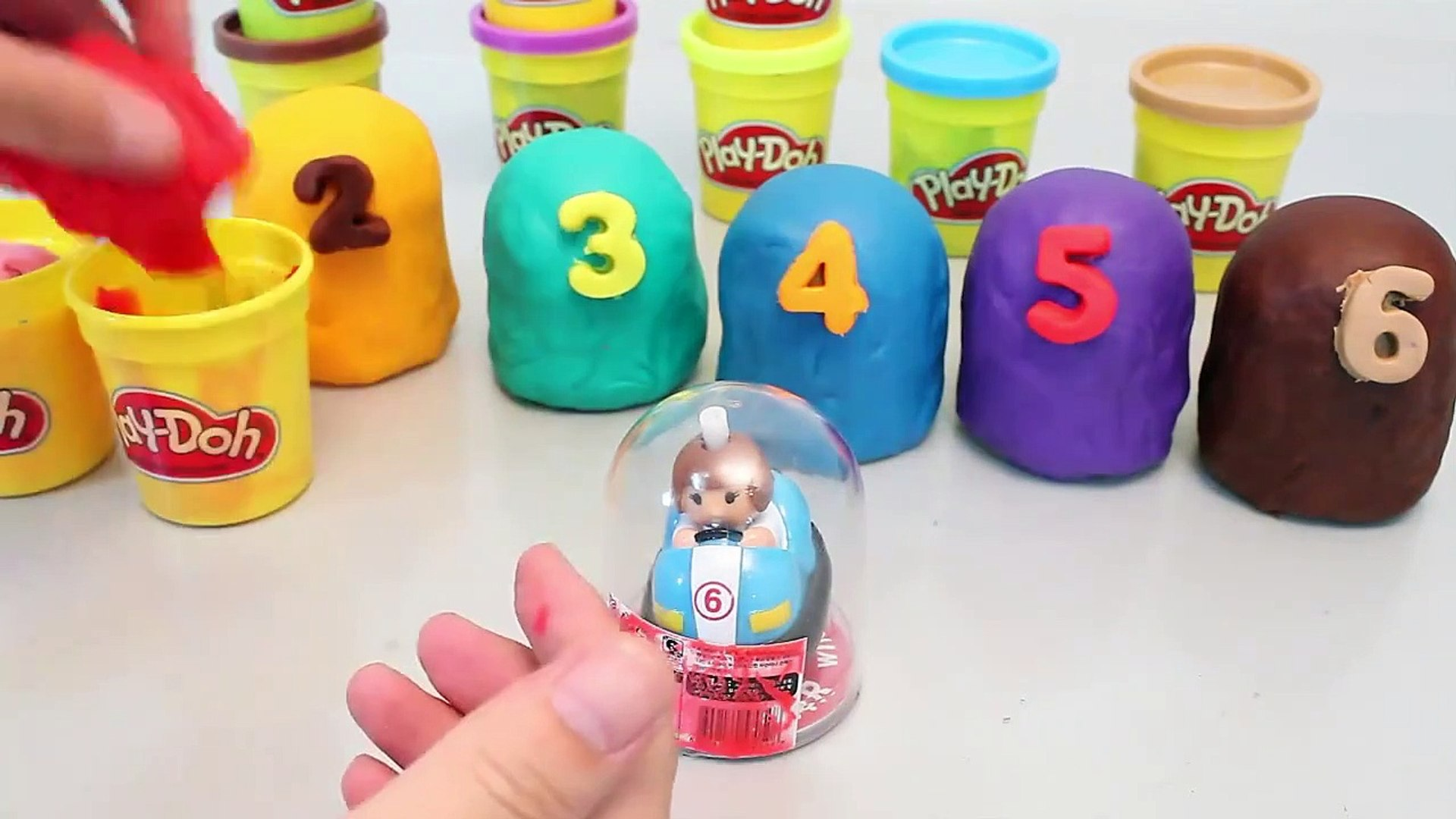 Kids Play Colors Play Doh Surprise Eggs Number Playdough Toy For All Kids