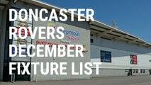 Doncaster Rovers December fixture list 2019