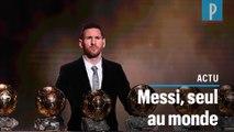 Messi et ses 6 Ballon d'or : « Je suis heureux d'être le seul »