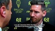 Les mots élogieux de Messi pour Sadio Mané « Moi personnellement, j'ai voté pour lui, il a réalisé une grande saison … »