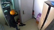 Chinese man arrested after attempting to rob bank with axe