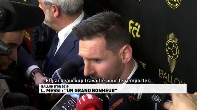 "Lionel Messi : ""Un grand bonheur"""
