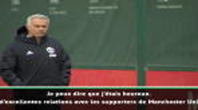 """15e j. - Mourinho : """"Je ne suis pas un ennemi mais les supporters d'United vont soutenir Solskjaer"""""""