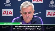 I'm in love with Son - Mourinho