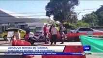 Armas sin permiso en Herrera - Nex Noticias