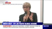 """Agnès Ogier (SNCF): """"Seulement 3% des TER pourront circuler"""" et pour les intercités """"le trafic sera quasiment nul"""" le 5 décembre"""
