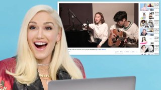 Gwen Stefani Watches Fan Covers on YouTube