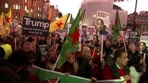 NHS protesters demonstrate against Trump