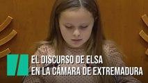 El emotivo discurso de una niña trans en la Asamblea de Extremadura