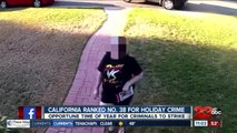 California ranked 38th for holiday crime