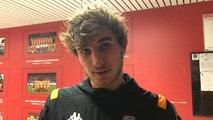 L'attaquant du FC Lorient Pierre-Yves Hamel après la victoire à Orléans (4-0)