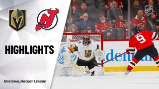 New Jersey Devils vs. Vegas Golden Knights - Game Highlights
