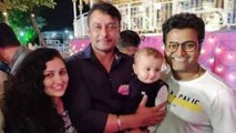 Rishab Shetty baby Ranvith with Challenging star Darshan | FILMIBEAT KANNADA
